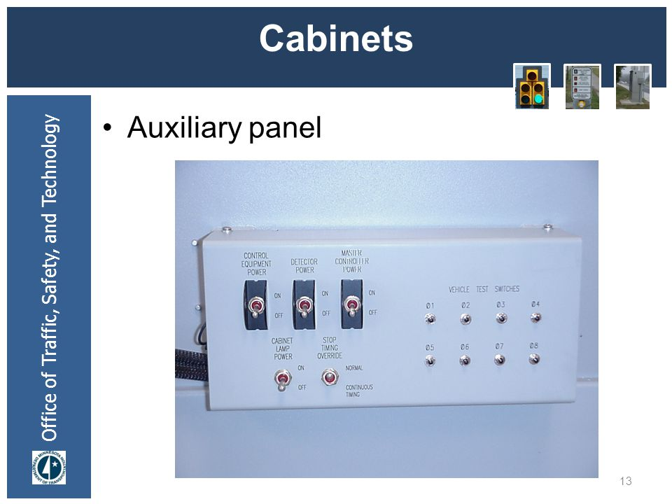 * 07/16/96 Cabinets Auxiliary panel *
