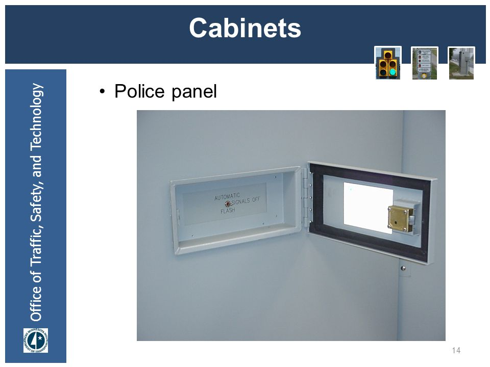 * 07/16/96 Cabinets Police panel *