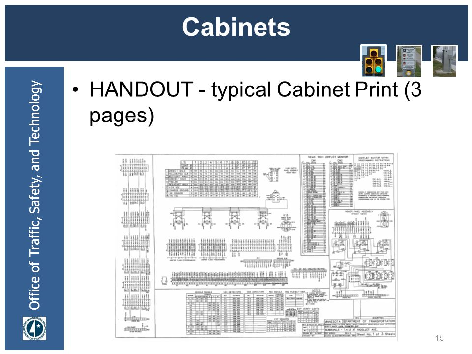 * 07/16/96 Cabinets HANDOUT - typical Cabinet Print (3 pages) *