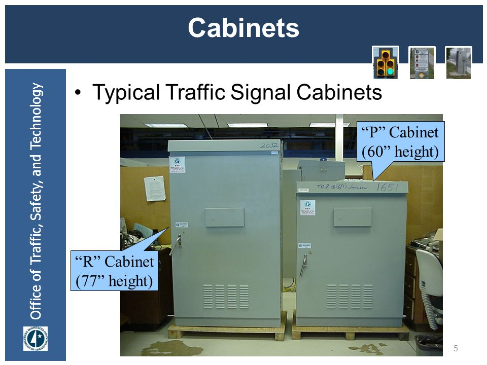 Cabinets Typical Traffic Signal Cabinets P Cabinet (60 height)