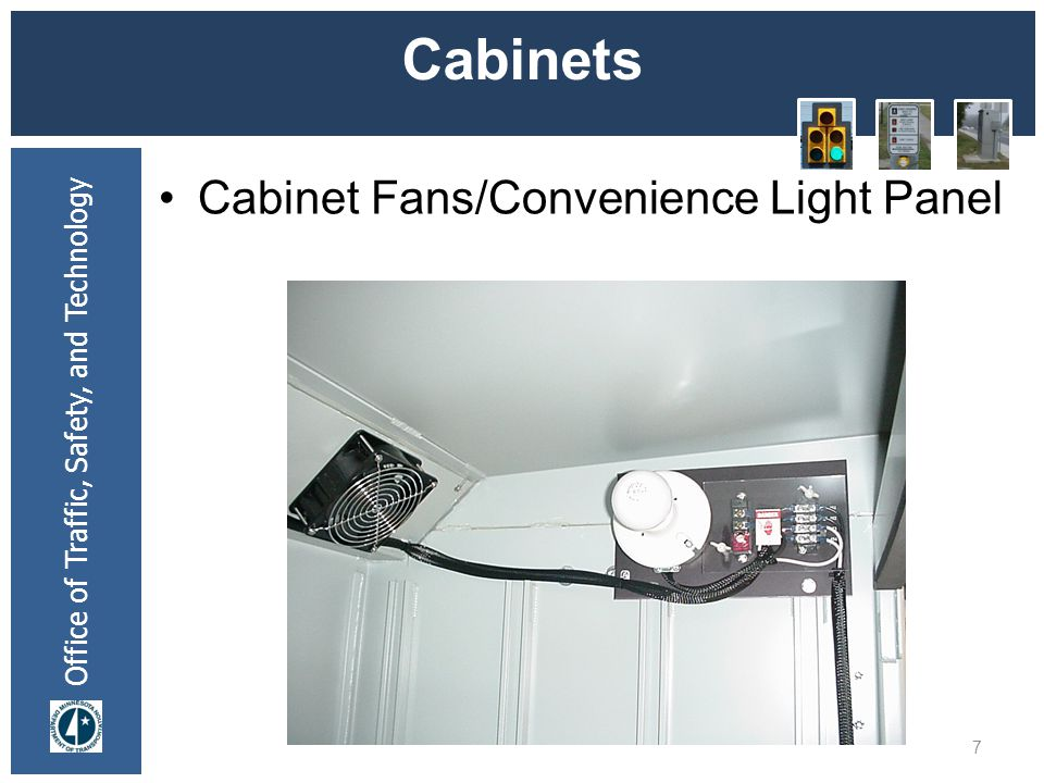 * 07/16/96 Cabinets Cabinet Fans/Convenience Light Panel *