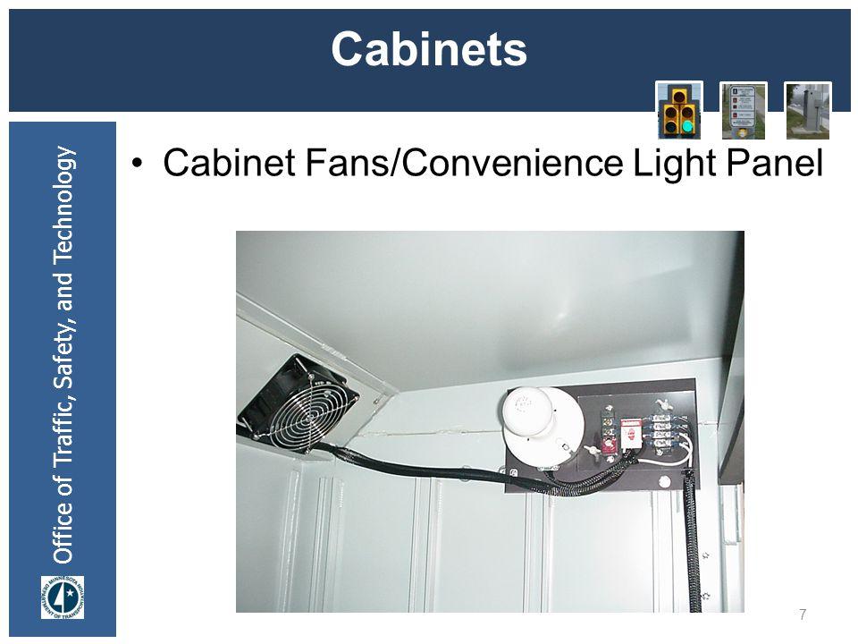* 07/16/96 Cabinets Cabinet Fans/Convenience Light Panel *