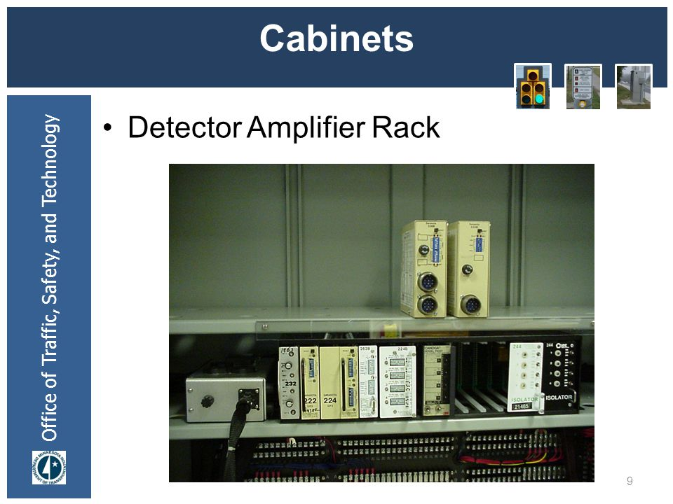 * 07/16/96 Cabinets Detector Amplifier Rack *