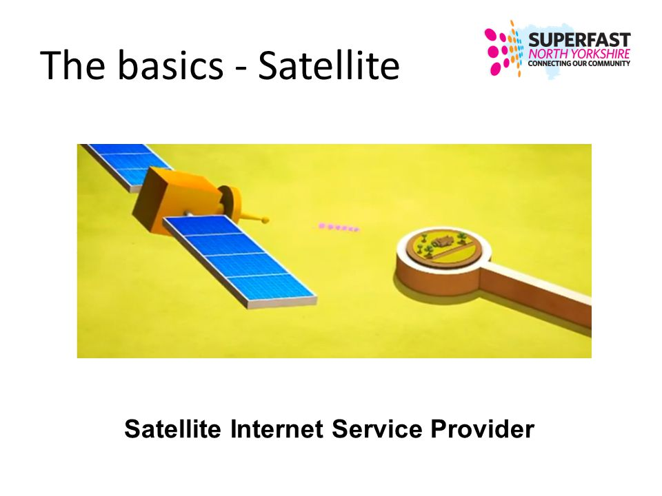 The basics - Satellite Satellite Internet Service Provider