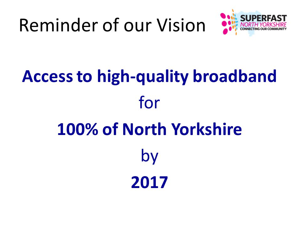 Access to high-quality broadband