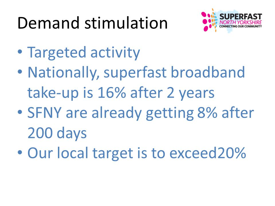 Demand stimulation Targeted activity