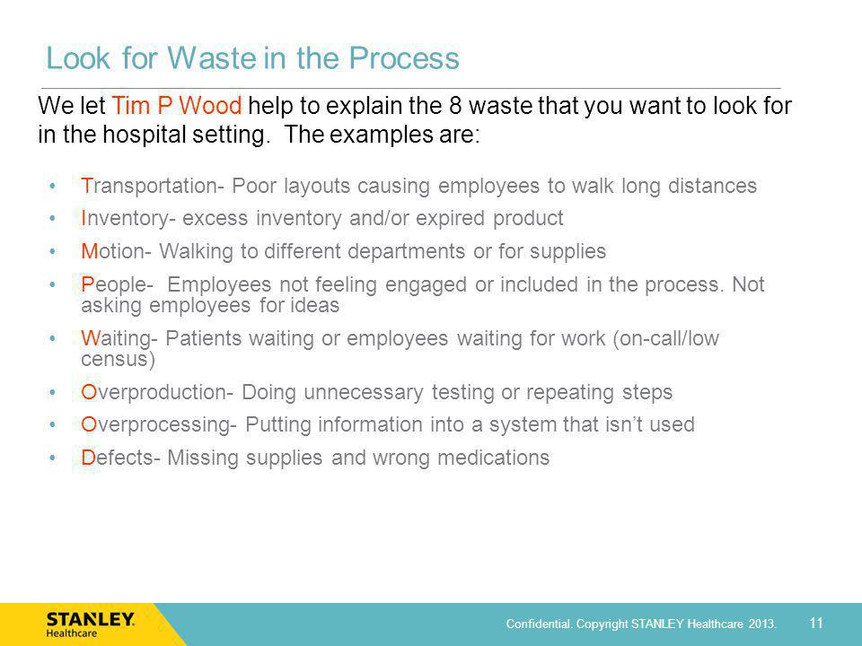 Look for Waste in the Process