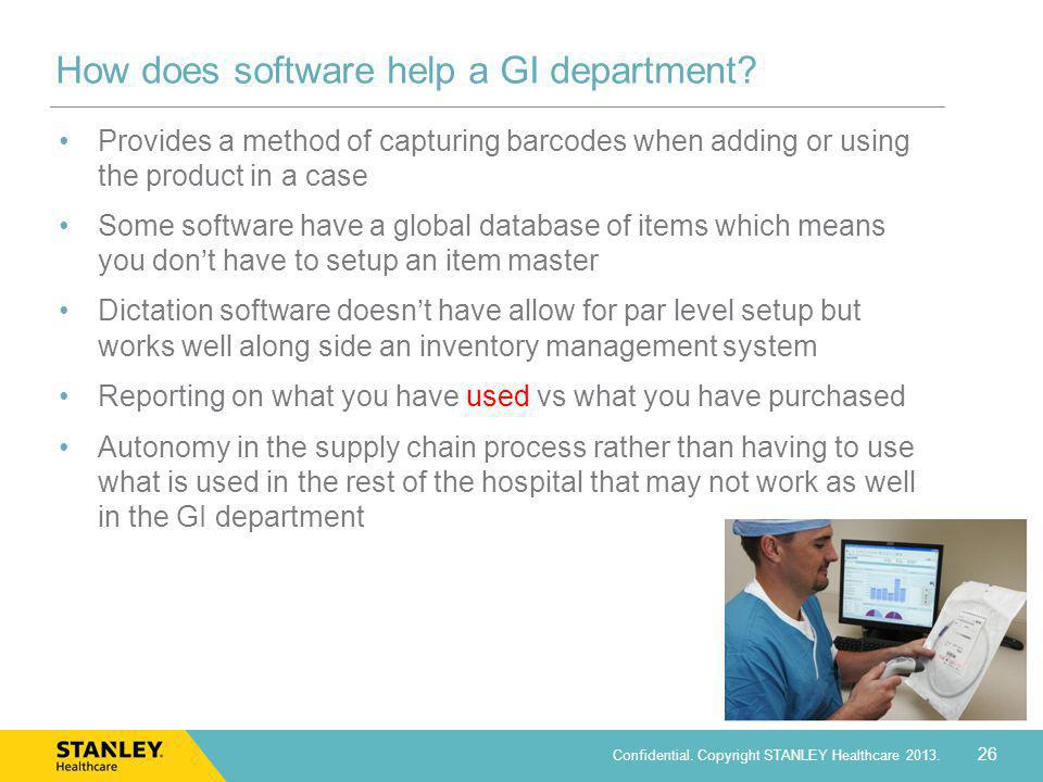 How does software help a GI department