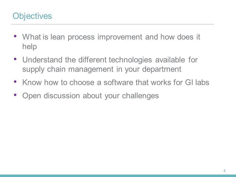 Objectives What is lean process improvement and how does it help