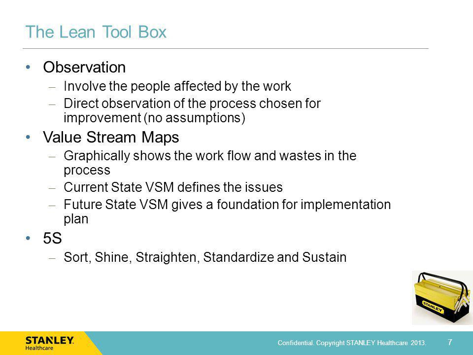The Lean Tool Box Observation Value Stream Maps 5S
