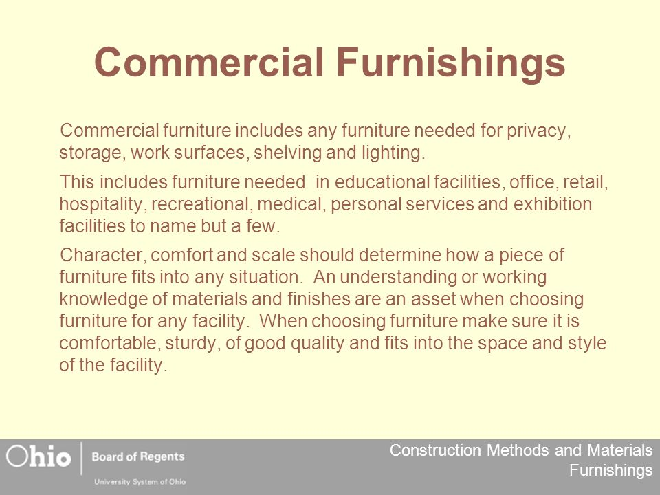 Commercial Furnishings