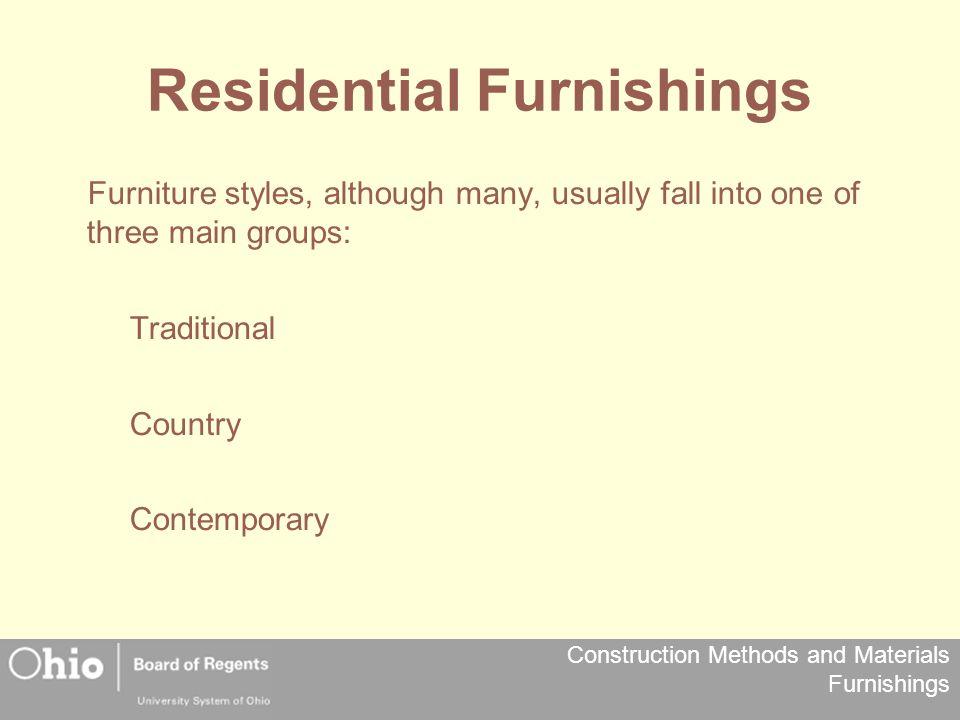 Residential Furnishings