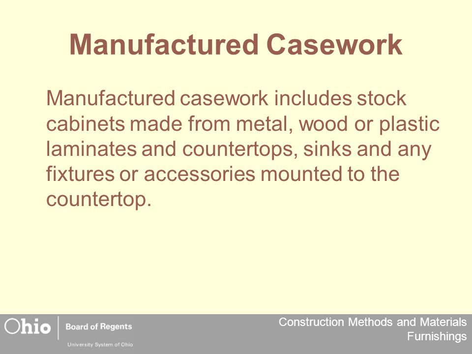 Manufactured Casework