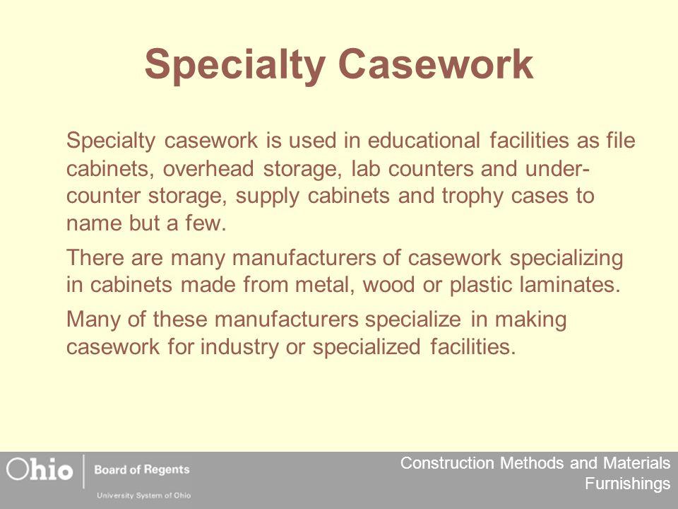 Specialty Casework