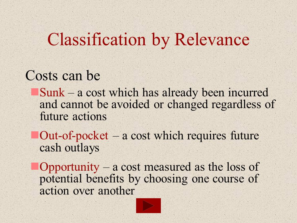 Classification by Relevance