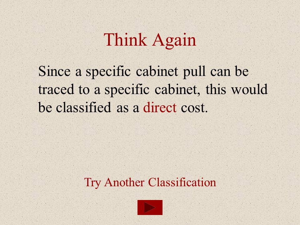 Try Another Classification