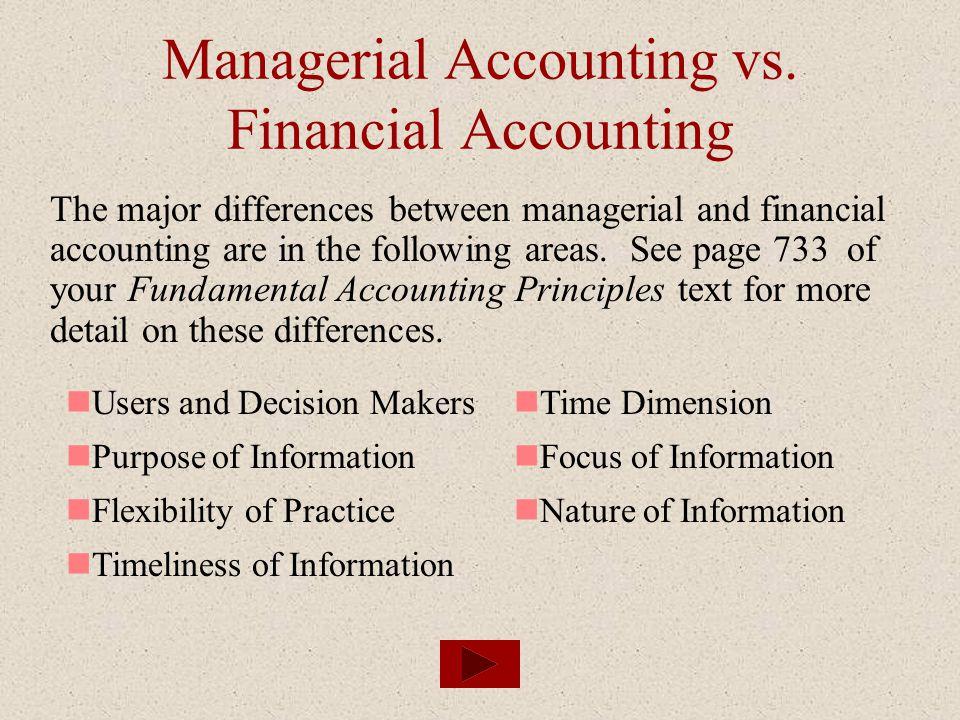Managerial Accounting vs. Financial Accounting