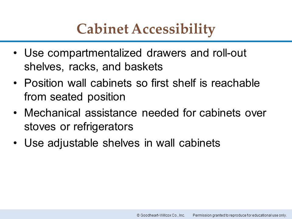 Cabinet Accessibility