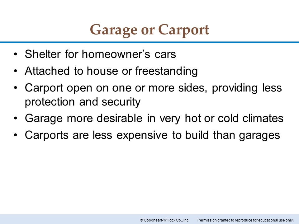Garage or Carport Shelter for homeowner's cars