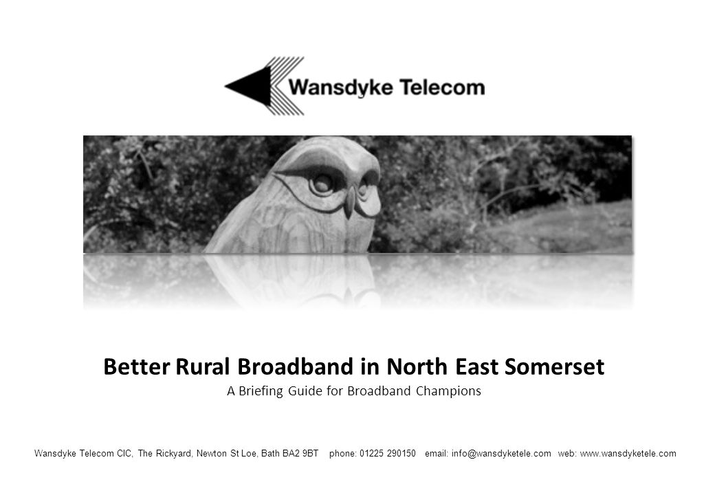 Better Rural Broadband in North East Somerset