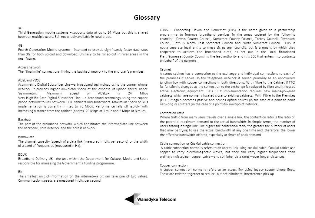 Glossary 3G.