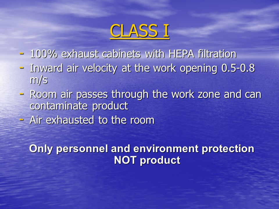 Only personnel and environment protection NOT product