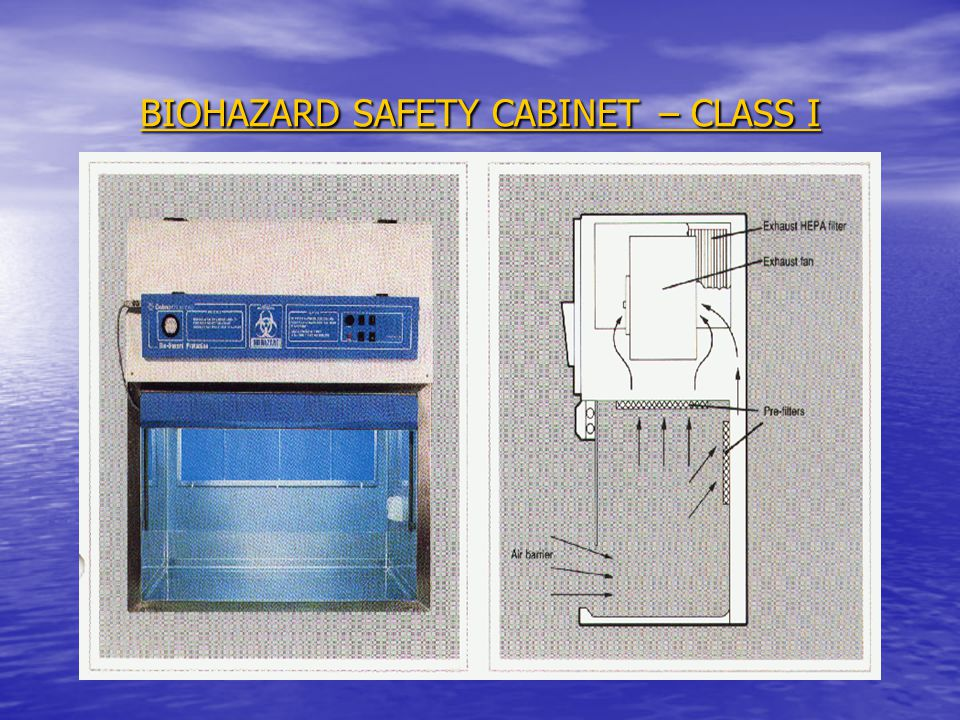 BIOHAZARD SAFETY CABINET – CLASS I