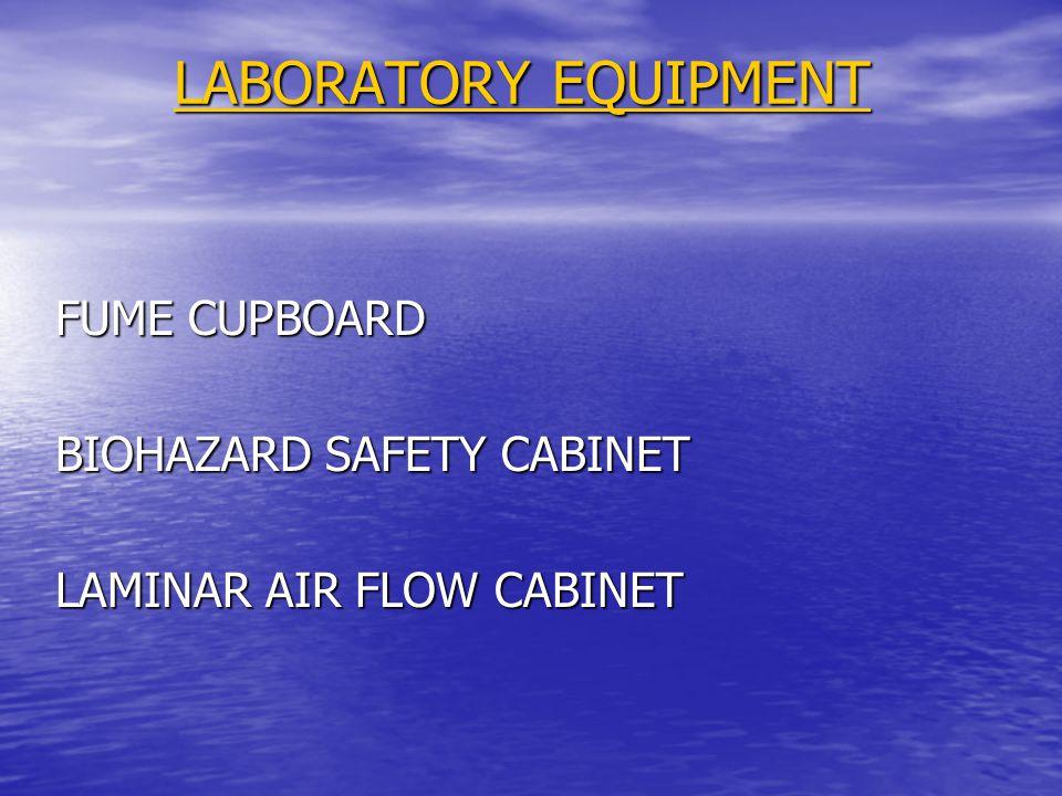 LABORATORY EQUIPMENT FUME CUPBOARD BIOHAZARD SAFETY CABINET