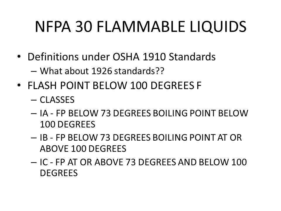 NFPA 30 FLAMMABLE LIQUIDS