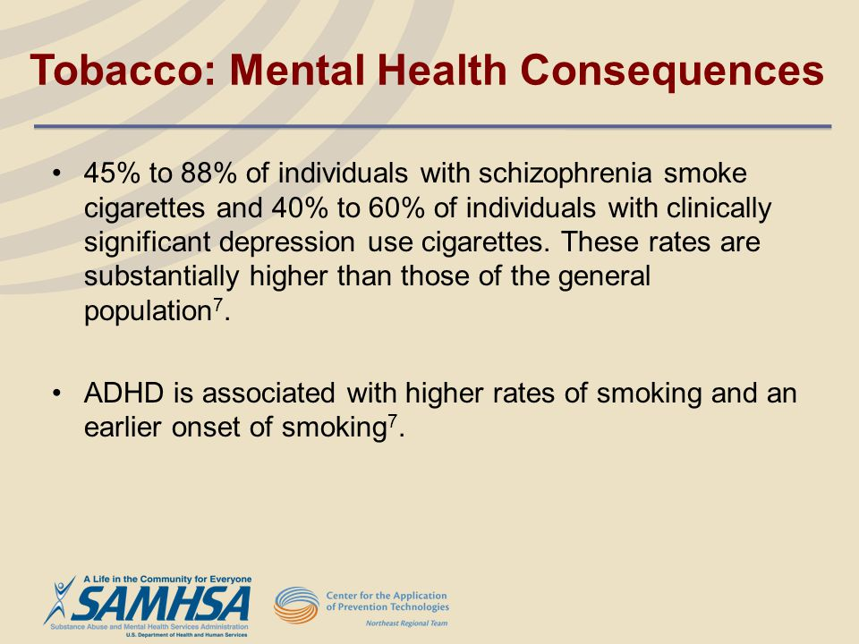 Tobacco: Mental Health Consequences
