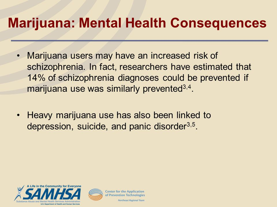 Marijuana: Mental Health Consequences
