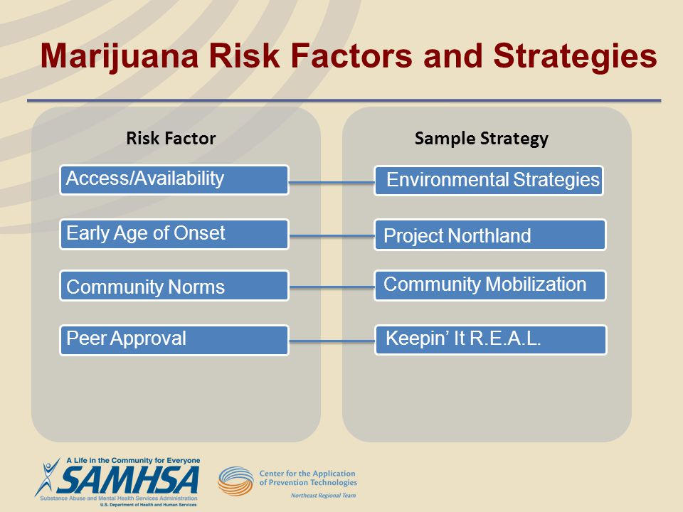 Marijuana Risk Factors and Strategies