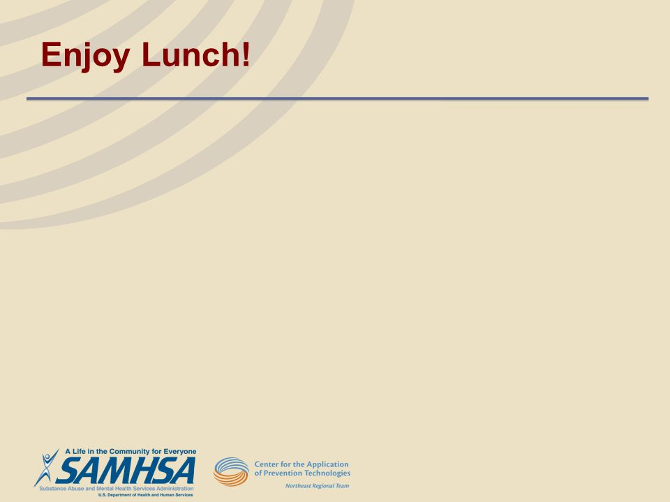 Enjoy Lunch!