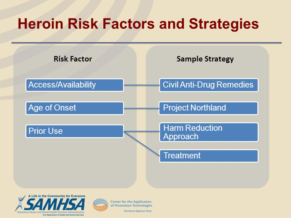 Heroin Risk Factors and Strategies