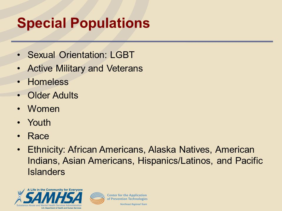 Special Populations Sexual Orientation: LGBT