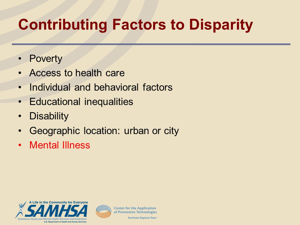 Contributing Factors to Disparity