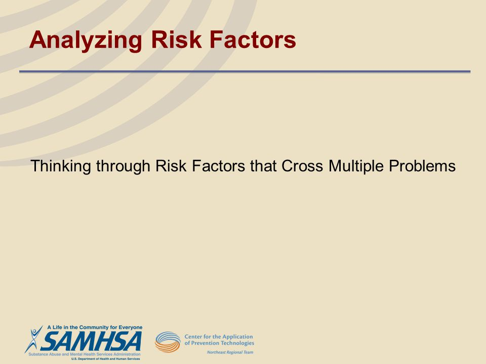 Analyzing Risk Factors
