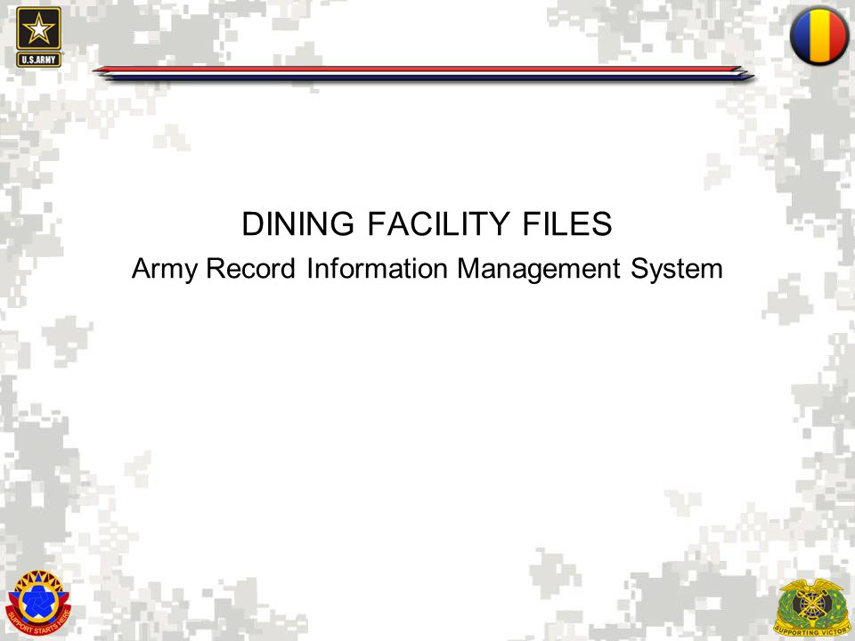 Army Record Information Management System