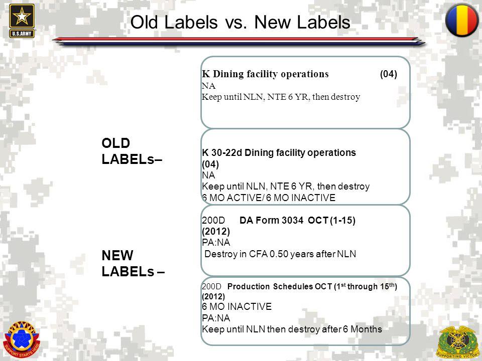 Old Labels vs. New Labels
