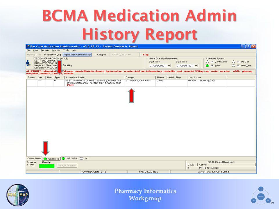 BCMA Medication Admin History Report
