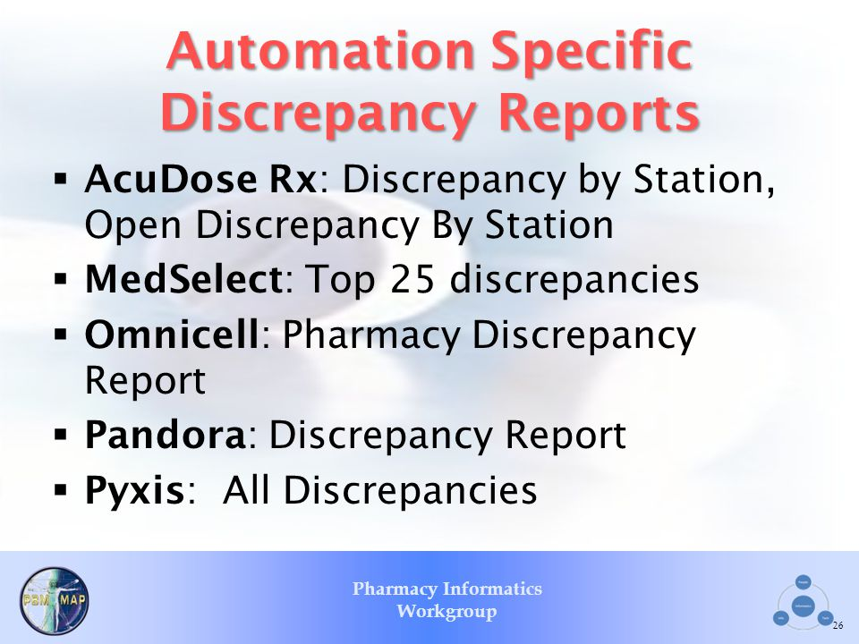 Automation Specific Discrepancy Reports