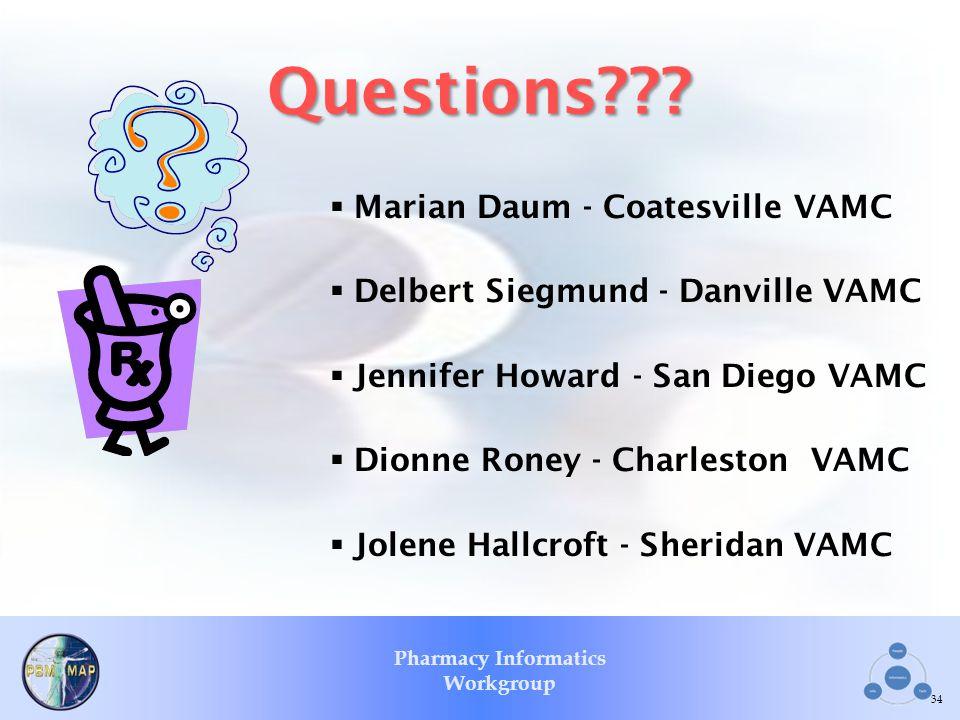 Questions Marian Daum - Coatesville VAMC