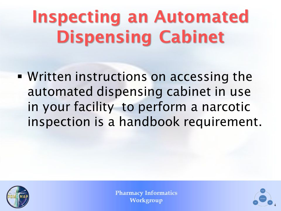 Inspecting an Automated Dispensing Cabinet