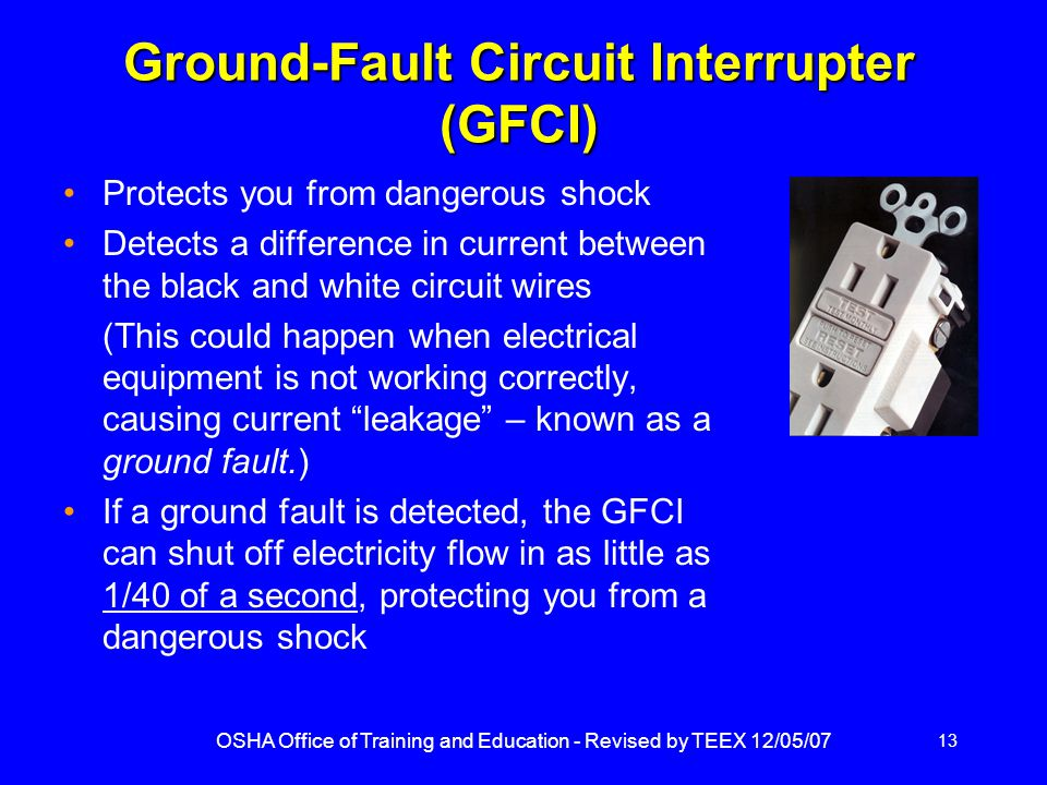 Ground-Fault Circuit Interrupter (GFCI)