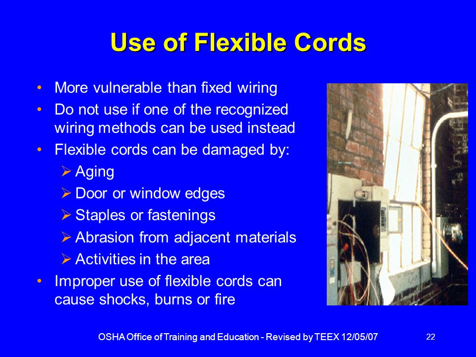 OSHA Office of Training and Education - Revised by TEEX 12/05/07