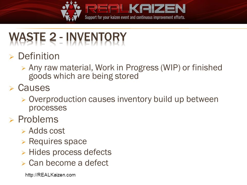 Waste 2 - Inventory Definition Causes Problems