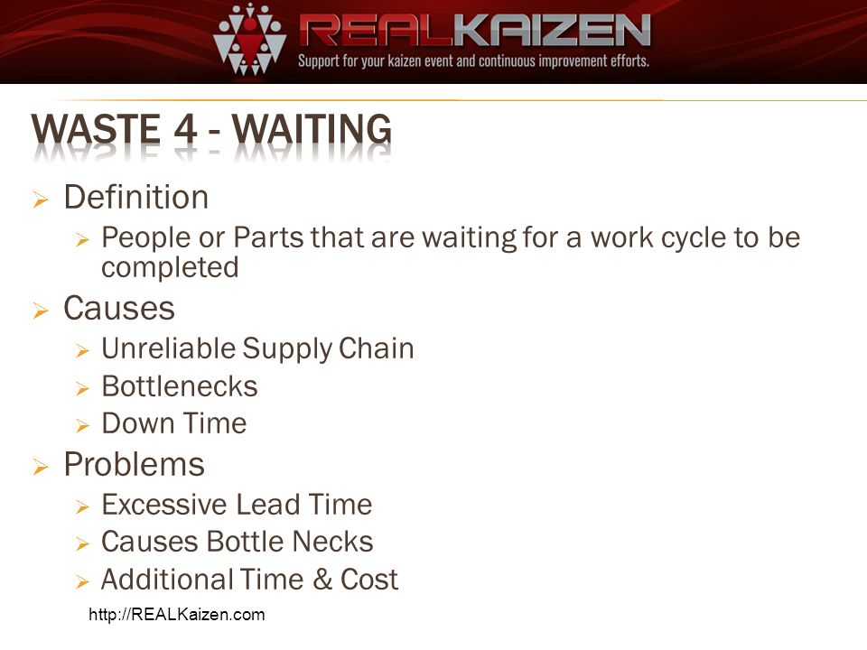 Waste 4 - Waiting Definition Causes Problems