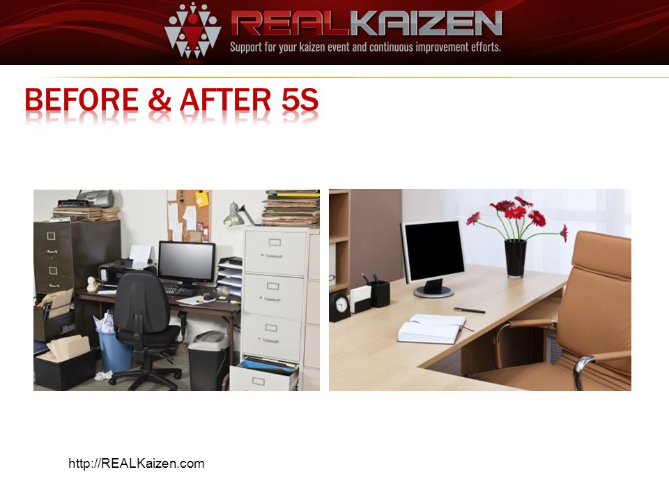 Before & AFTER 5S http://REALKaizen.com