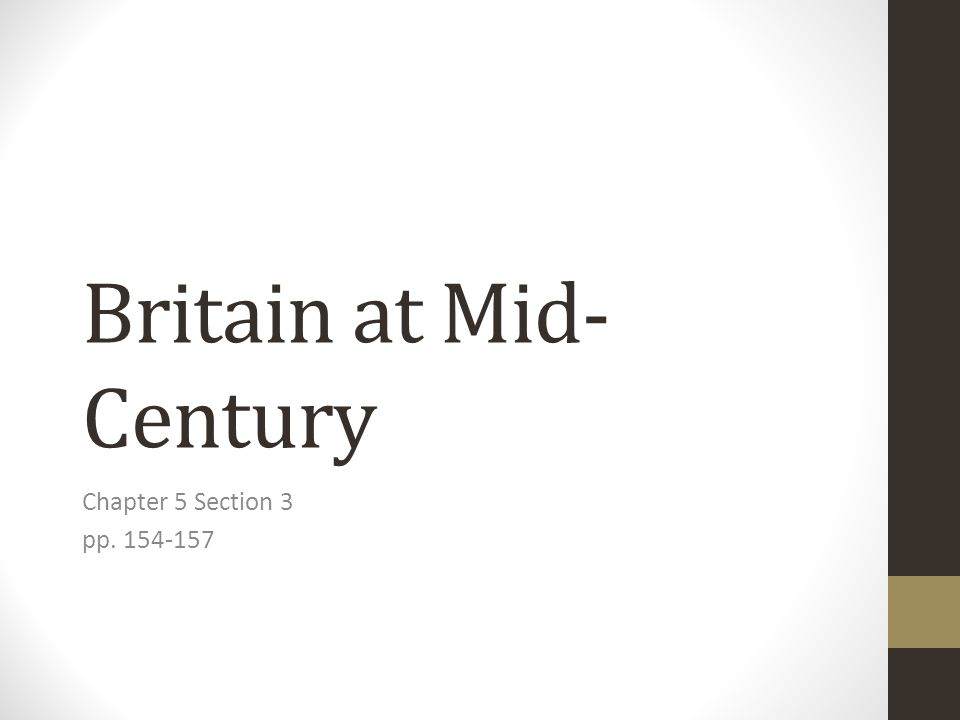 Britain at Mid-Century