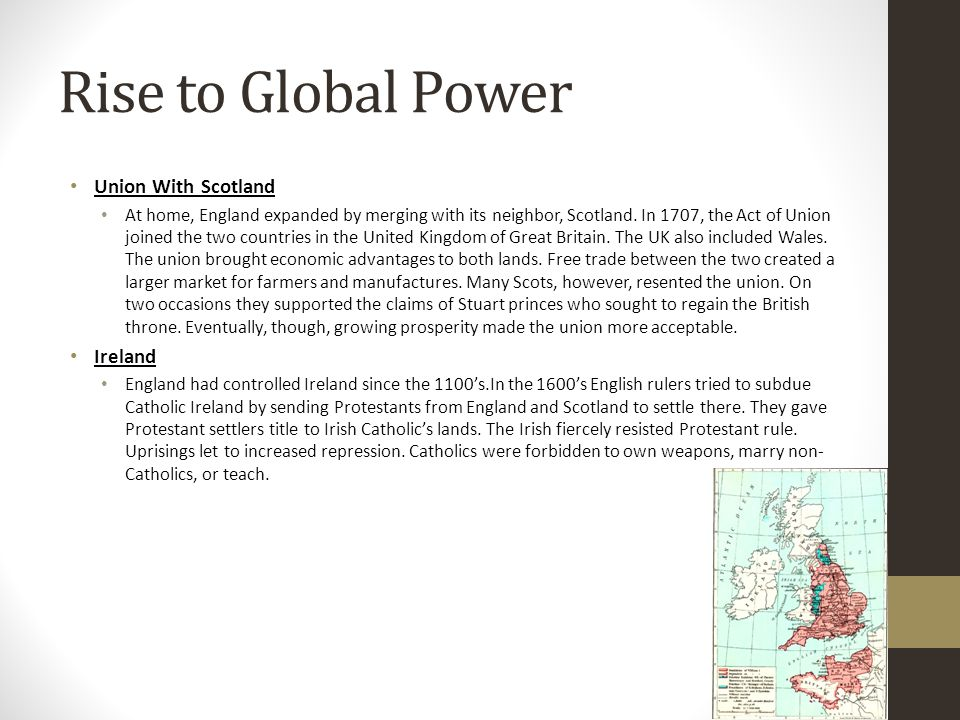 Rise to Global Power Union With Scotland Ireland